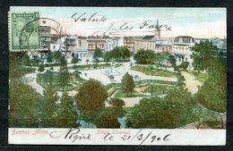 CARTOLINA CV2362 ARGENTINA Buenos Aires, Plaza Libertad, 1906, Viaggiata Per L'Italia, Formato Piccolo, Buone Condizioni - Argentina