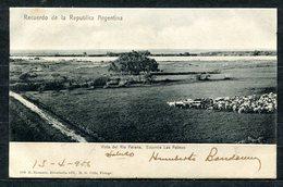 CARTOLINA CV2363 ARGENTINA Rio Parana, Estancia Las Palmas, 1906, Viaggiata Per L'Italia, Formato Piccolo, Ottime Condiz - Argentina