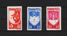 1942 - Anniv. De La Liberation  De La Bucovine   Mi No 746/748  MNH - 1918-1948 Ferdinand, Carol II. & Mihai I.