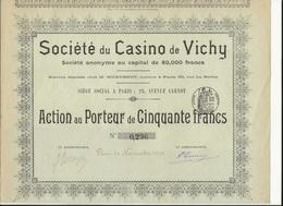 ACTION DE 50 FRANCS - SOCIETE DU CASINO DE VICHY - ANNEE 1898 - Casino