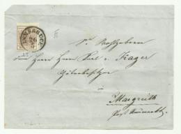 FRANCOBOLLO 6 KREUZER INNSBRUCK 1856 SU FRONTESPIZIO - Oblitérés