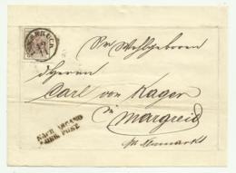 FRANCOBOLLO 6 KREUZER INNSBRUCK 1855  SU FRONTESPIZIO - Oblitérés