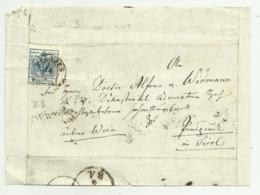 FRANCOBOLLO 9  KREUZER  1854  SU FRONTESPIZIO - 1850-1918 Keizerrijk