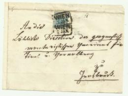 FRANCOBOLLO 9  KREUZER WIEN   1856  SU FRONTESPIZIO - Oblitérés