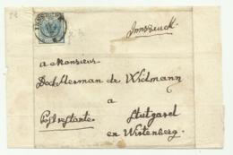 FRANCOBOLLO 9  KREUZER INNSBRUCK   1853  SU FRONTESPIZIO - 1850-1918 Impero
