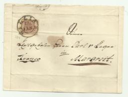 FRANCOBOLLO 6  KREUZER SILLIAN  1853  SU FRONTESPIZIO - Oblitérés