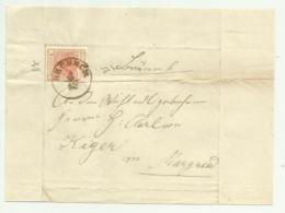 FRANCOBOLLO 3    KREUZER BRUNECK  1856   SU FRONTESPIZIO - 1850-1918 Impero
