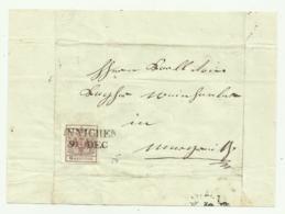 FRANCOBOLLO 6 KREUZER INNICHEN 1854   SU FRONTESPIZIO - 1850-1918 Impero