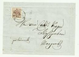 FRANCOBOLLO 6  KREUZER 1857  SU FRONTESPIZIO - Usati
