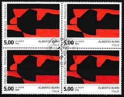 France - Création D'Alberto Burri YT 2780 Obl (bloc De 4) - France