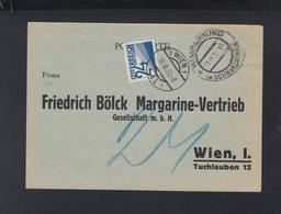 Österreich Bölck Margarine PK 1933 Wimpassing Nach Wien Nachporto - 1918-1945 1. Republik