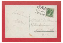 "LUXEMBOURG -- POSTE FERROVIAIRE -- AMBULANT ""LUXEMBOURG/RODANGE -- CP 15/07/1933-- - Luxemburg"