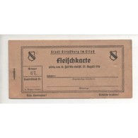 NOTGELD  STRASSBURG ELSASS - Fleichkarte (S202 B) - Non Classés
