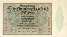 Deutschland, Germany - 500 000 Mark, Reichsbanknote, Ro. 87 E,  ( Serie AB ) UNC -, 1923 ! - 1918-1933: Weimarer Republik