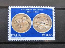 *ITALIA* USATI 2005 - BICENTENARIO MAZZINI - SASSONE 2855 - LUSSO/FIOR DI STAMPA - 6. 1946-.. Repubblica
