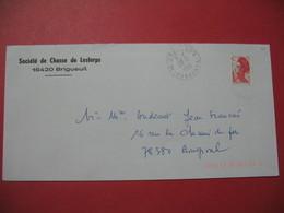 Lettre 1990 -  Lettre à Entête : Société De Chasse De Lesterps  - 16 420  Brigueuil - Marcofilia (sobres)