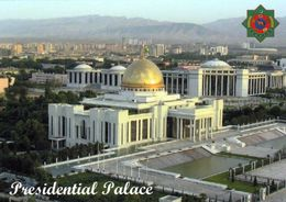 1 AK Turkmenistan * Blick Auf Den Präsidentenpalast In Der Hauptstadt Asgabat * - Turkménistan