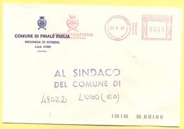 ITALIA - ITALY - ITALIE - 2002 - 00,41 EMA, Red Cancel - Comune Di Finale Emilia - Viaggiata Da Finale Emilia Per Lugo - Affrancature Meccaniche Rosse (EMA)