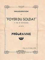 1936 - ORAN (Algérie) - Inauguration Du FOYER DU SOLDAT - 17, Rue De Mostaganem - PROGRAMME - Historische Documenten
