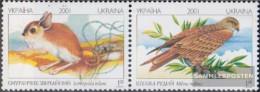 Ukraine 459-460 Couple (complete Issue) Unmounted Mint / Never Hinged 2001 Animals - Ukraine