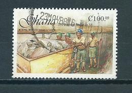 1988 Ghana Revolution C100.00 Used/gebruikt/oblitere - Ghana (1957-...)