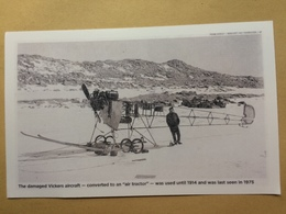 Antarctic - Repro Photo Damaged Vickers Aircraft - Frank Hurley - Mawson`s Hut Foundation - Postcards