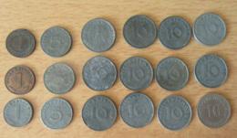 Allemange / Deutches Reich - Lot De 18 Monnaies 1, 5 Et 10 Pfennig 1908 (Etat SUP) à 1944 - Voir Description. - [11] Collections