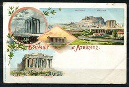 CARTOLINA CV2377 GRECIA GREECE Atene Athens, Gruss Aus Type, 1901, Viaggiata Per L'Italia, Formato Piccolo, Francobollo - Grecia