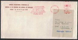 """AE246  """"Le Vétérinaire  Au Service De L'élevage Et De La Sante Publique"""" - EMA  - Enveloppe Pour L'Allemagne 1978 - Medicina"""