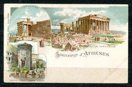 CARTOLINA CV2379 GRECIA GREECE Atene Athens, Gruss Aus Type, 1901, Viaggiata Per L'Italia, Formato Piccolo, Francobollo - Grecia