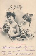 CPA - Thèmes - Femmes - Fêtes Et Porte-Bonheur - Femmes
