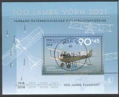 """Österreich 2018: Block """"100 Jahre Flugpost"""" Gestempelt - 1945-.... 2ème République"""