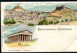 CARTOLINA CV2380 GRECIA GREECE Atene Athens, Gruss Aus Type, 1901, Viaggiata Per L'Italia, Formato Piccolo, Francobollo - Grecia