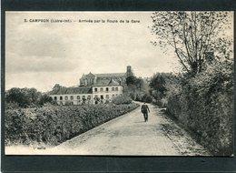CPA - CAMPBON - Arrivée Par La Route De La Gare, Animé - France