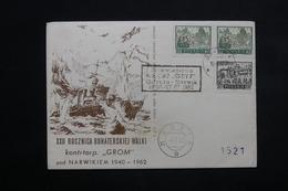 POLOGNE - Enveloppe Illustrée Souvenir Gaynia / Narvik En 1962 - L 22352 - Covers & Documents