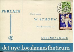 42251 Danmark Circuled Card 1929  With Cinderella  Julen 1929 - 1913-47 (Christian X)