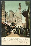 CARTOLINA CV2383 EGITTO EGYPT Il Cairo Rue Du Caire, 1907, Viaggiata Per L'Italia, Formato Piccolo, Ottime Condizioni - Cairo