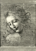 "Parma (Emilia Romagna) Galleria D'Arte, ""Testa Muliebre"" (attribuito A Leonardo), A Woman Head - Parma"