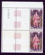 """1966 - """"Echarpe"""" Marron - N° 1497 - Neufs ** - Charlemagne Coin Daté - Coins Datés"""