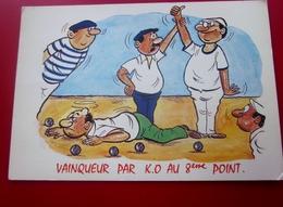 HUMORISTIQUE SUR LA PÉTANQUE CPSM Carte Postale Cartes Postales-Thème Sport Pétanque-JEU De Boules état -voir Scanns - Pétanque