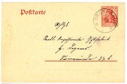 """P 79 Postkarte Aus """"GRÜNKRAUT"""" Guter K 1 Nach Swinemünde 1911 - Allemagne"""