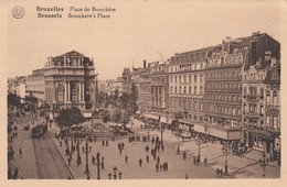 BRUSSELS, Belgium, 1900-10s; Brockere's Place (Square), Anspach Fountain - Squares