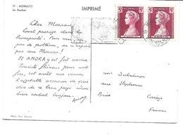 Europe-MONACO-Une Vue Du Rocher-PUB.Collection AMORA-TIMBRE-Obliteration-1960 - Altri