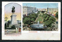 CARTOLINA CV2391 EGITTO EGYPT Alexandrie, Place De Consuls, Statue De Mohamed Ali, Tipo Gruss Aus, 1900, Viaggiata Per L - Alexandria