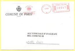 ITALIA - ITALY - ITALIE - 2002 - 00,41 EMA, Red Cancel - Comune Di Forlì - Viaggiata Da Forlì Per Lugo - Affrancature Meccaniche Rosse (EMA)