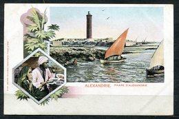 CARTOLINA CV2392 EGITTO EGYPT Alexandrie, Phare, Tipo Gruss Aus, 1900, Viaggiata Per L'Italia, Formato Piccolo, Francobo - Alexandria