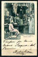 CARTOLINA CV2393 EGITTO EGYPT Alexandrie, Epicerie Arabe, Grocery, Drigheria, 1907, Viaggiata Per L'Italia, Formato Picc - Alexandria