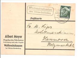 Landpoststempel Wolbrechtshausen über Nörten-Hardenberg-Angelgeräte - Briefe U. Dokumente