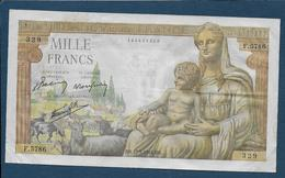 BILLET De  1000 F  Déesse Déméter  Du  27 - 5 - 1943 - 1871-1952 Anciens Francs Circulés Au XXème