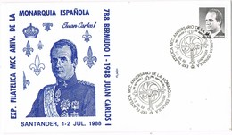 31475. Carta Exposicion SANTANDER 1988. Monarquia Española. Rey Juan Carlos I - 1931-Hoy: 2ª República - ... Juan Carlos I